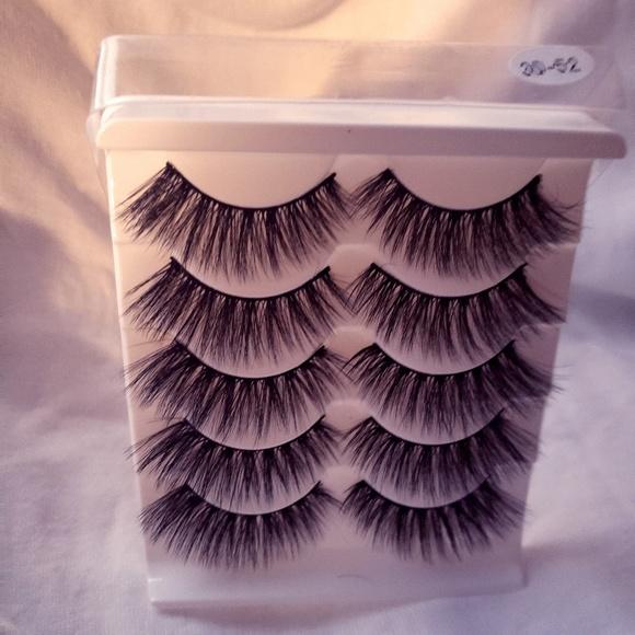 COPY - COPY - 3-D Mink False Eye Lashes (5 pair) …
